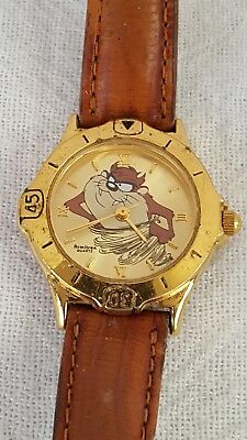 Vintage 1995 Warner Bros. Tazmanian Devil Armitron Quartz Watch Runs