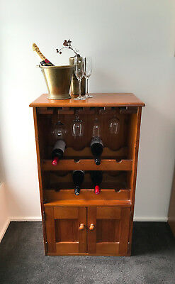Wooden Wine Rack Cabinet Large