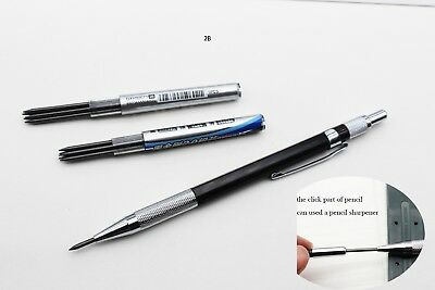 2mm Lead Holder Automatic Draughting Mechanical Drafting Pencil 2B leads set