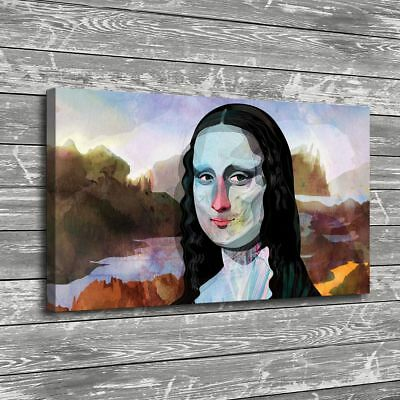 Science Behind Mona Lisa Smile Home Decor Room HD Canvas Print Wall Art Painting
