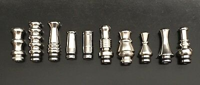 510 Stainless Steel Tip Lot Of 10 Different Collection NEW Brand Name $50 Retail
