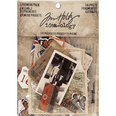 Tim Holtz Idea-Ology - Ephemera Pack - Snippets - 111 Pieces