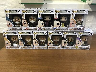 Disney Pop Funko Bundle Snow White And The 7 Dwarfs With Exclusives