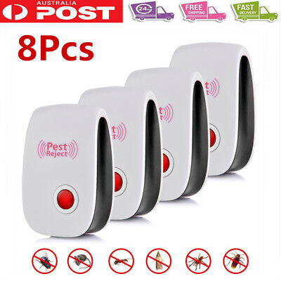 8xUltrasonic Pest Control Electronic Repeller Rat Mosquito Insect Mice Repellent