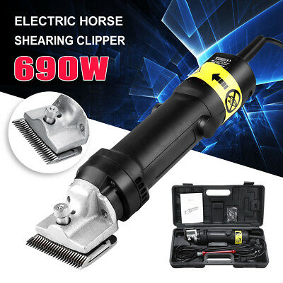 690W Professional Electric Animal Clippers Heavy Duty Horse Dog Pet Shearing UK