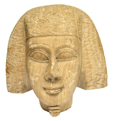 Rare Ancient Egyptian Statue Head Of Amenemhat III (reigned 1818–1770 BCE)