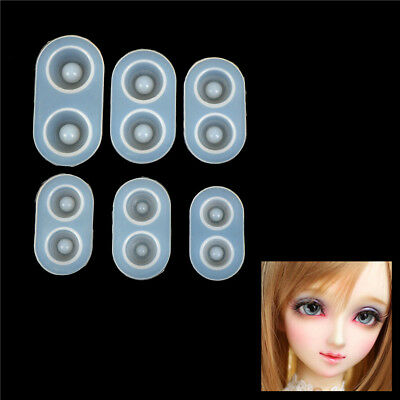 1pc Silicone Mould Resin Casting Jewelry Doll Eyes Craft DIY Mold Tool Best