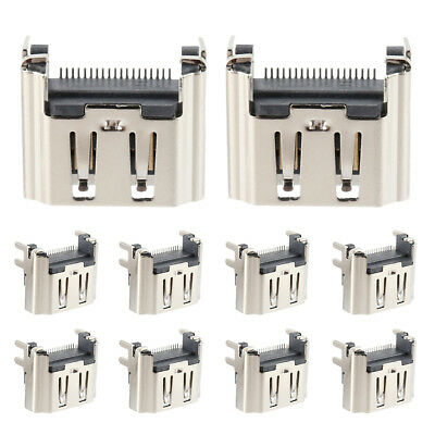 10Pcs HDMI Port Socket Interface Connector For PlayStation 4 For PS4 PP Replace