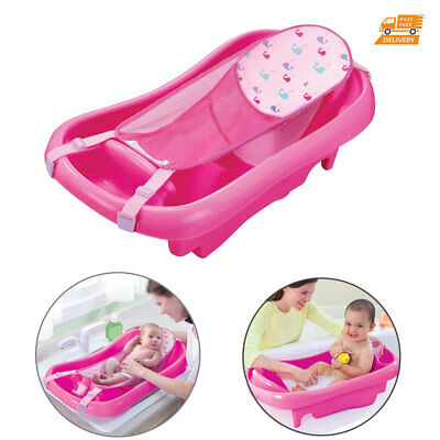 Baby Shower Wash Bath Tub With Sling Net Hammock Seat For Toddler Infant Newborn