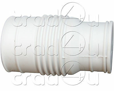 macerator white rubber inlet waste pipe connector