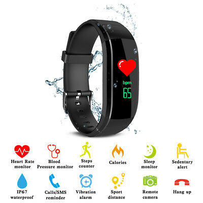 New UPX Bluetooth Watch Smart Bracelet Heart Rate Blood Pressure Monitor AC1254