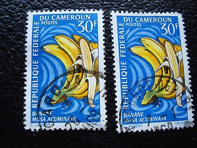 cameroon - stamp yvert and tellier n° 449 x2 obl (A33) stamp cameroon (K)