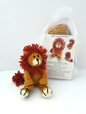 Crochet Kit - Baby Lion Mini Crochet Kit - Craft birthday mothers day gift