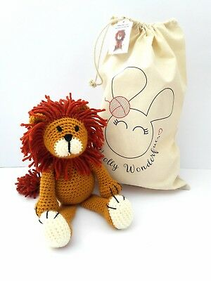 Crochet Kit - Alfred the Lion Complete Crochet Kit - Craft birthday mum gift