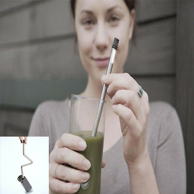 2018 Collapsible Reusable Portable Stainless Straw Travel Outdoor Straw
