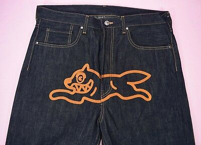 OG Season 2 BBC ICE CREAM RUNNING DOG EMBROIDERED CLASSIC MEN S JEANS LARGE e8db72401efe
