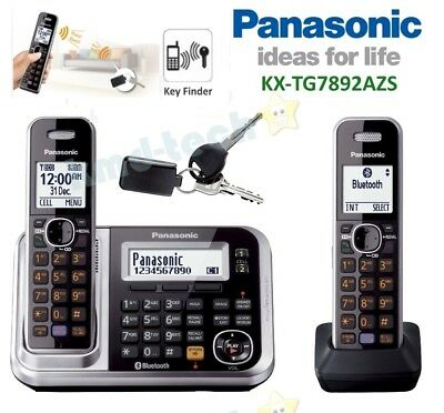 Panasonic Kx-Tg7892Azs Twin Cordless Phone System Link-To-Cell Key Finder Rp$139
