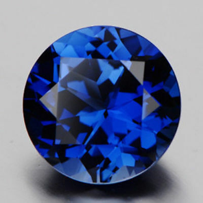 Unheated Blue Sapphire 3.86cts 10mm Round Faceted Cut AAAAA VVS Loose Gemstone