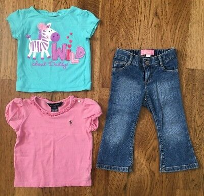 cee03ce187c Lot Of Baby Girl Clothes Size 18-24 Months  Summer Shirts   Boot Cut