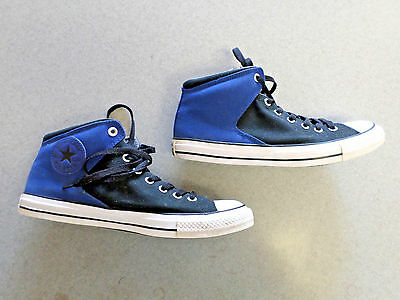 b3ce7cd1577 CONVERSE ALL STAR Black and Blue Mid Basketball Shoes. Men s 10 (eur ...
