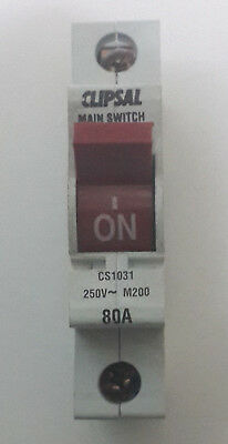 Clipsal 80A Main Switch Isolator 4PSW180