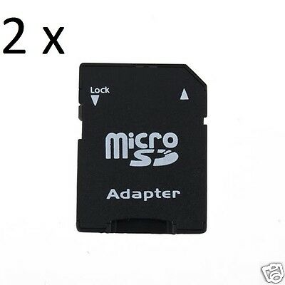 2 x Micro SD to SD Card Adapters  * 2 Adapters Included  *