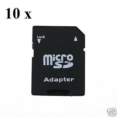 10 x Micro SD to SD Card Adapters  * 10 Adapters Included  *