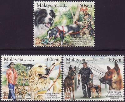 Malaysia 2018 MNH MUH Set - Animal With Various Special Roles - Working Dogs