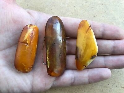 Old Genuine Baltic Stone Amber Brooch Stone Gem jewelry natural vintage 21 g.