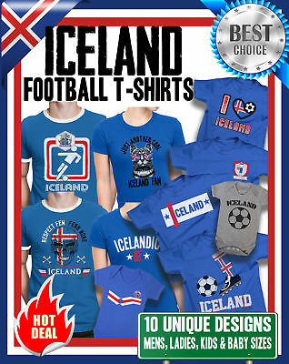 84bbb6149 ICELAND World Cup 2018 T-Shirt Football Family Choice Mens Womens Kids Baby