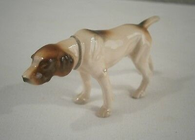 "Brown & White Porcelain Pointer Dog Marked ""Germany"" Numbered ""2667"""