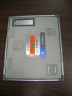 """Green KR- 8"""" x 10"""" Medical X-ray Cassette with 400 Speed Green Screens-Used"""