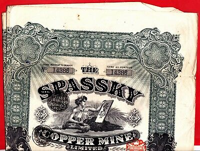 CUV47) Aktie Spassky Copper Mine Limited von 1918