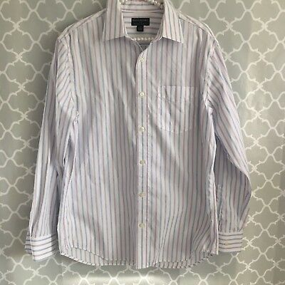 557db8daa Banana Republic Factory Button Down Shirt Mens Sz M Classic Fit White Blue  Pink