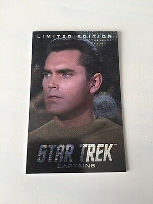 Dave And Busters Captain Pike Limited Card Star Trek Coin Pusher Very Rare!
