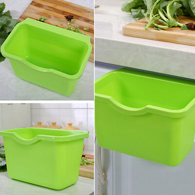 KE_ Kitchen Cabinet Door Basket Hanging Trash Can Waste Bin Garbage Bowl Box G