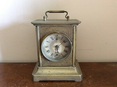 Antique German Musical Carriage Clock With Built In Music Box Spares Or Repair