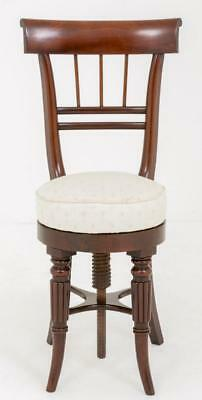 Regency Revolving Piano Chair in Mahogany Swivel Stool