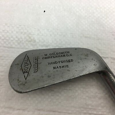 Vintage Royal Hand Forged Mashie - Hickory handle - great display piece