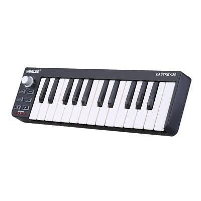 KEYBOARD MINI 25-KEY USB MIDI Controller Electronic Organ Mini-keyboard Key  Q9M8