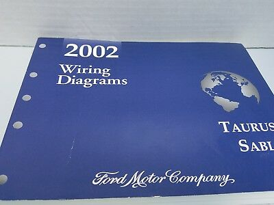 2002 Ford Mercury Dealer Electrical Wiring Diagram Manual Taurus Sable