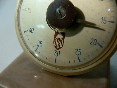 THERMOMETER Pferdekopf Logo DBD Deutscher Bund D Kunststuff ~1960 West Germany