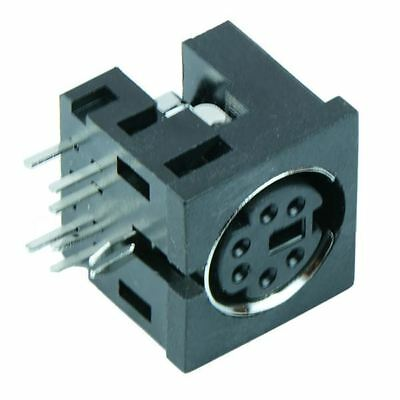 6 Way PCB DIN Mini Socket Right Angle Audio Connector