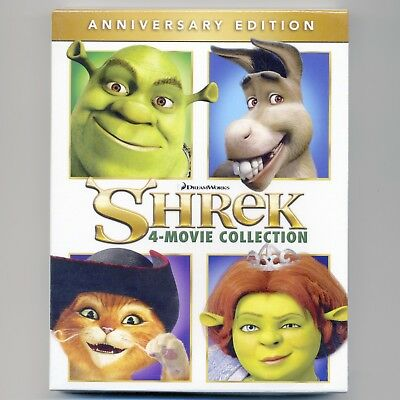 Shrek 1 2 3 Third 4 Forever After movie Collection 2016 Anniv. Ed., new Blu-ray