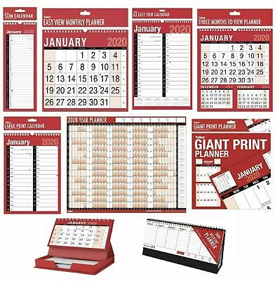 2019 Wall Calendar Slim Calender, Large Month to View Planner,Easy View Calendar