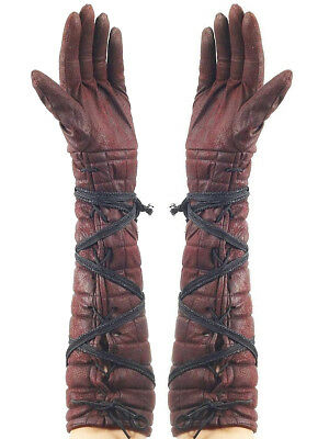 Adults Faux Leather Medieval Renaissance Knight Hunter Archer Gloves