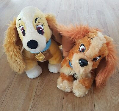 Lady and the tramp Lady Plush Toys Soft Toy Walt Disney Bundle TWO / PAIR