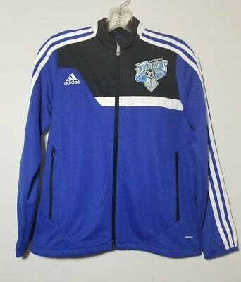 "Youth M Adidas Climacool Full Zip Jacket ""Bakersfield Blades"" Logo  $60."