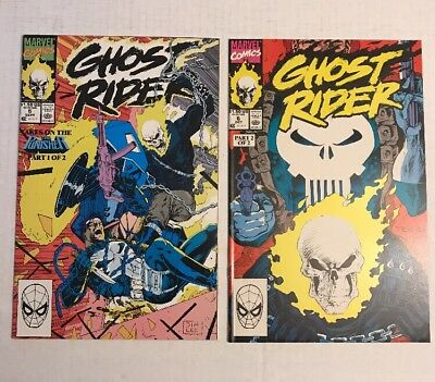 Ghost Rider #5 & #6 (Marvel 1990) Punisher - Mark Texeira & Jim Lee NM