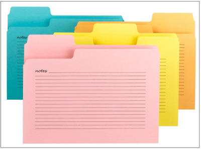 Smead SuperTab Notes File Folders Oversized 1/3-Cut Tabs Letter Size